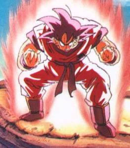 goku powering up